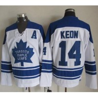 Maple Leafs #14 Dave Keon White CCM Throwback Third Stitched NHL Jersey