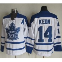 Maple Leafs #14 Dave Keon White CCM Throwback Winter Classic Stitched NHL Jersey