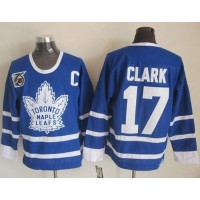 Maple Leafs #17 Wendel Clark Blue 75th CCM Throwback Stitched NHL Jersey