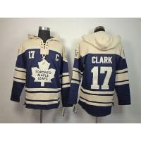 Maple Leafs #17 Wendel Clark Blue Sawyer Hooded Sweatshirt Stitched NHL Jersey