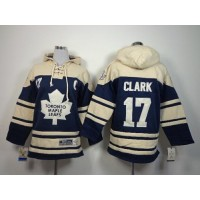 Maple Leafs #17 Wendel Clark Blue Sawyer Hooded Sweatshirt Stitched Youth NHL Jersey