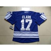 Maple Leafs #17 Wendel Clark Blue Third Stitched NHL Jersey