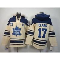 Maple Leafs #17 Wendel Clark Cream Sawyer Hooded Sweatshirt Stitched NHL Jersey