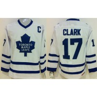 Maple Leafs #17 Wendel Clark White CCM Throwback Stitched NHL Jersey