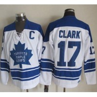 Maple Leafs #17 Wendel Clark White CCM Throwback Third Stitched NHL Jersey