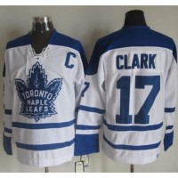 Maple Leafs #17 Wendel Clark White CCM Throwback Winter Classic Stitched NHL Jersey