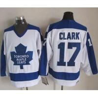 Maple Leafs #17 Wendel Clark WhiteBlue CCM Throwback Stitched NHL Jersey