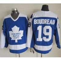 Maple Leafs #19 Bruce Boudreau BlueWhite CCM Throwback Stitched NHL Jersey