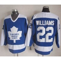 Maple Leafs #22 Tiger Williams BlueWhite CCM Throwback Stitched NHL Jersey