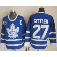 Maple Leafs #27 Darryl Sittler Blue 75th CCM Throwback Stitched NHL Jersey