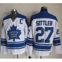 Maple Leafs #27 Darryl Sittler White CCM Throwback Third Stitched NHL Jersey