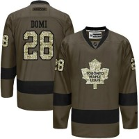 Maple Leafs #28 Tie Domi Green Salute to Service Stitched NHL Jersey