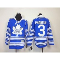 Maple Leafs #3 Dion Phaneuf Blue 2014 Winter Classic Stitched Youth NHL Jersey