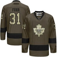 Maple Leafs #31 Grant Fuhr Green Salute to Service Stitched NHL Jersey
