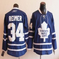 Maple Leafs #34 James Reimer Blue Stitched Youth NHL Jersey