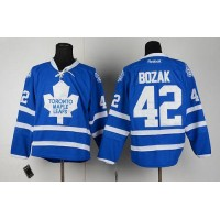 Maple Leafs #42 Tyler Bozak Blue Home Stitched NHL Jersey