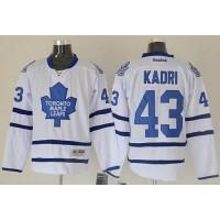 Maple Leafs #43 Nazem Kadri White Road Stitched NHL Jersey