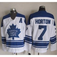 Maple Leafs #7 Tim Horton White CCM Throwback Third Stitched NHL Jersey