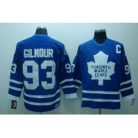 Maple Leafs #93 Doug Gilmour Stitched Blue CCM Throwback NHL Jersey