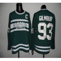 Maple Leafs CCM Throwback #93 Doug Gilmour Green Stitched NHL Jersey