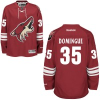Men's Arizona Coyotes #35 Louis Domingue Burgundy Red Home NHL Jersey