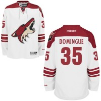 Men's Arizona Coyotes #35 Louis Domingue White Away NHL Jersey