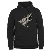 Men's Arizona Coyotes Black Rink Warrior Pullover Hoodie