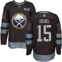 Men's Buffalo Sabres #15 Jack Eichel Black 1917-2017 100th Anniversary Stitched NHL Jersey