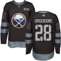Men's Buffalo Sabres #28 Zemgus Girgensons Black 1917-2017 100th Anniversary Stitched NHL Jersey