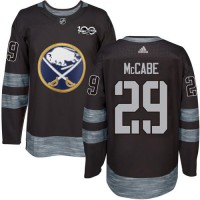 Men's Buffalo Sabres #29 Jake McCabe Black 1917-2017 100th Anniversary Stitched NHL Jersey