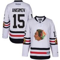 Men's Chicago Blackhawks #15 Artem Anisimov White 2017 Winter Classic Stitched NHL Jersey