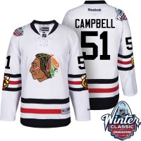 Men's Chicago Blackhawks #51 Brian Campbell White 2017 Winter Classic Stitched NHL Jersey