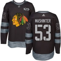 Men's Chicago Blackhawks #53 Brandon Mashinter Black 1917-2017 100th Anniversary Stitched NHL Jersey