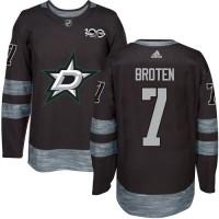 Men's Dallas Stars #7 Neal Broten Black 1917-2017 100th Anniversary Stitched NHL Jersey