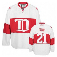 Men's Detroit Red Wings #21 Tomas Tatar White Winter Classic jersey