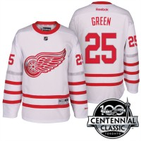 Men's Detroit Red Wings #25 Mike Green White 2017 Centennial Classic Stitched NHL Jersey