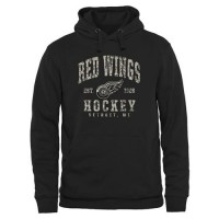 Men's Detroit Red Wings Black Camo Stack Pullover Hoodie