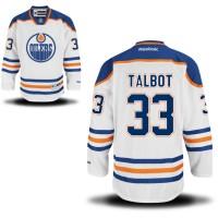 Men's Edmonton Oilers #33 Cam Talbot White Away NHL Jersey