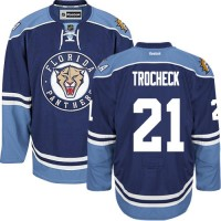 Men's Florida Panthers #21 Vincent Trocheck Navy Blue Third NHL Jersey