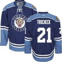 Men's Florida Panthers #21 Vincent Trocheck Navy Blue Third NHL Jersey