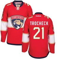 Men's Florida Panthers #21 Vincent Trocheck Red Home NHL Jersey