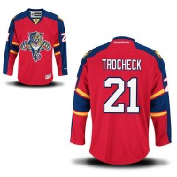 a9633fa17 Men s Florida Panthers  21 Vincent Trocheck Red Jersey