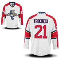 Men's Florida Panthers #21 Vincent Trocheck White Away Jersey