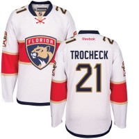 Men's Florida Panthers #21 Vincent Trocheck White Away NHL Jersey