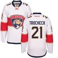 Men's Florida Panthers #21 Vincent Trocheck White Away NHL Jersey