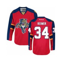 Men's Florida Panthers #34 James Reimer Red Home NHL Jersey