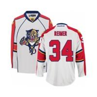 Men's Florida Panthers #34 James Reimer White Away NHL Jersey