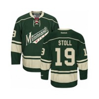 Men's Minnesota Wild #19 Jarret Stoll Green Third NHL Jersey