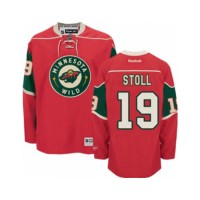 Men's Minnesota Wild #19 Jarret Stoll Red Home NHL Jersey