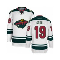 Men's Minnesota Wild #19 Jarret Stoll White Away NHL Jersey